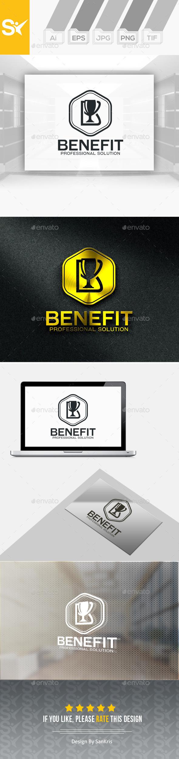 Benefit Pro Logo | B letter