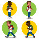 Set of Cheerful Schoolboys - GraphicRiver Item for Sale