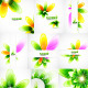 Pack of abstract nature backgrounds