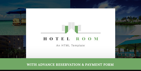 Hotel Room- Minimalist Hotel, Travel HTML Template