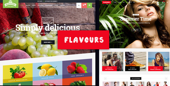 Flavours Fruit Store Ecommerce HTML Template