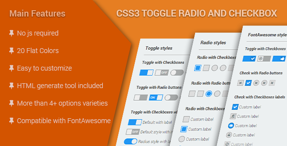 CSS3 Toggle Radio & Checkbox
