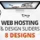 Web Hosting & Design Web Sliders 8 Designs - GraphicRiver Item for Sale