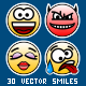 Set of 30 Circular Yellow Smiles - GraphicRiver Item for Sale