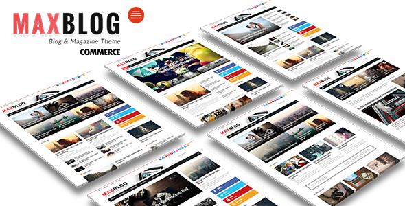 MaxBlog - Flat News Magazine Blog Drupal 7.6