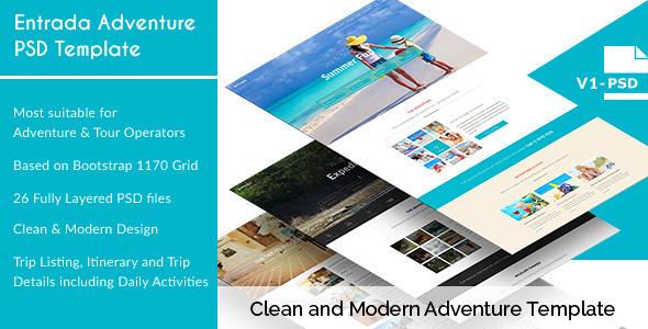 Entrada - Adventure and Tour PSD Template
