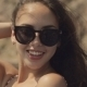 Smiling Girl With Long Hair In Sunglasses - VideoHive Item for Sale