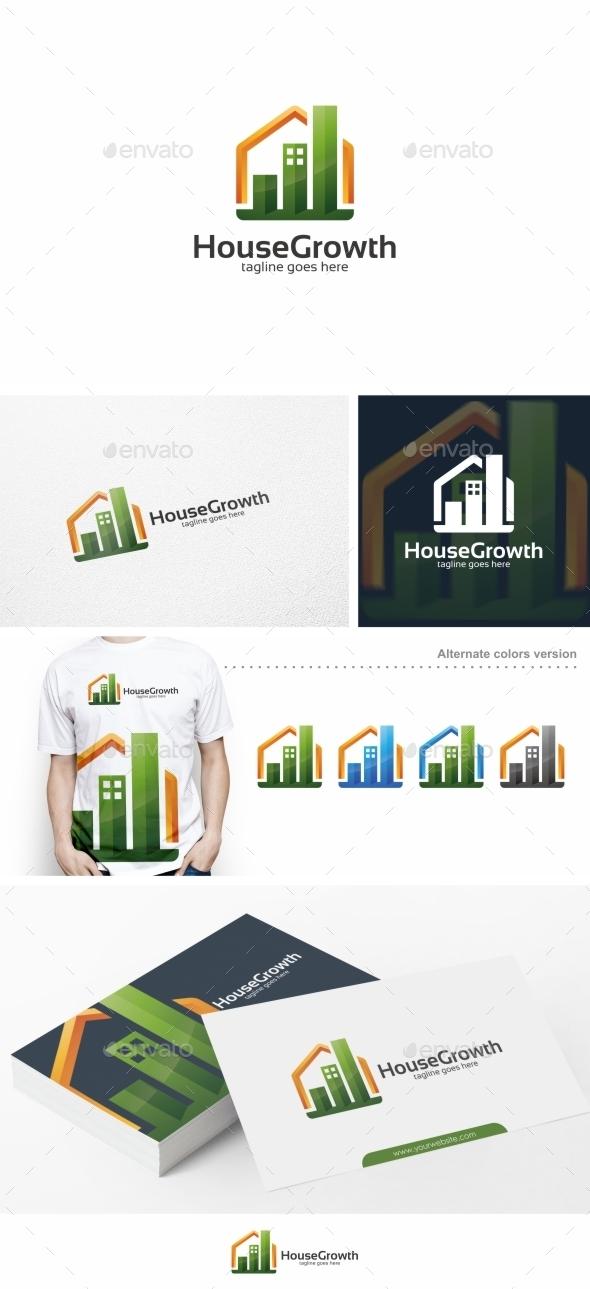House Growth / Graph - Logo Template