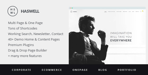 Haswell - Responsive, Multipurpose One & Multi Page WordPress Theme Download