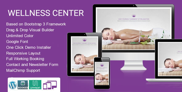 WellnessCenter Beauty Spa salon WordPress Theme