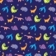Vector Colorful Dinosaurs Rows Seamless Pattern - GraphicRiver Item for Sale