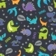 Vector Dinosaurs Roaring Seamless Pattern. Cutest - GraphicRiver Item for Sale