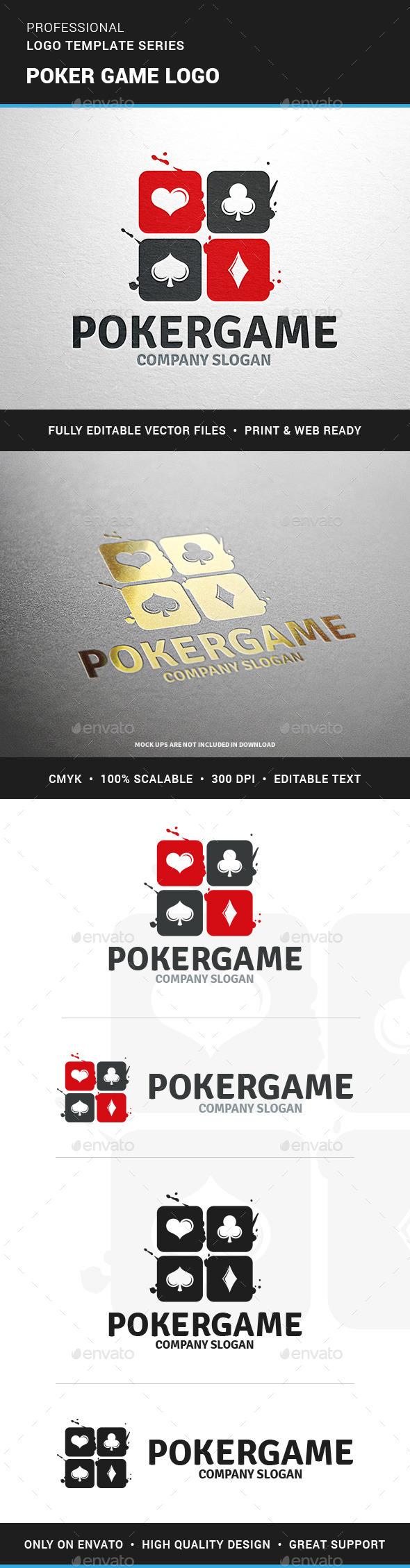 Poker Game Logo Template