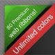 80 Premium Web Ribbons - GraphicRiver Item for Sale