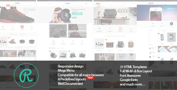 Electronics Fashion Store HTML Template - Raboda