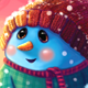 Christmas Background with Snowman  - GraphicRiver Item for Sale