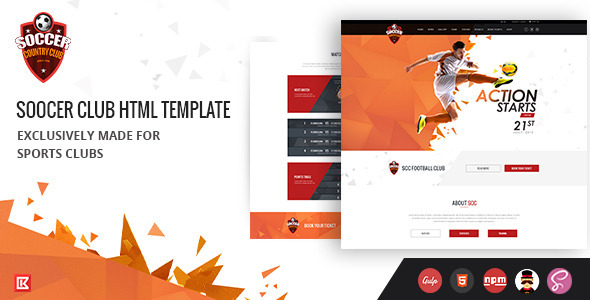 Soccer Club | Sports Agency HTML Template