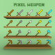pixel weapon - 3DOcean Item for Sale