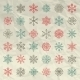 Winter Snow Flakes Doodles On Crumpled - GraphicRiver Item for Sale