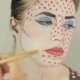 Visagist Applies The Red Dots On The Model's Face - VideoHive Item for Sale