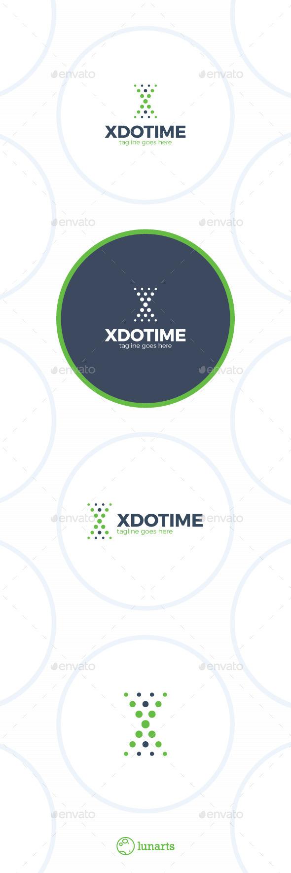 Dot Time Logo - Letter X