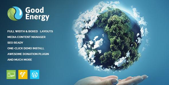 Good Energy - Ecology & Renewable Power Company WordPress Theme