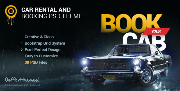 Zocari | Cab Book and Rental PSD Template