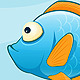 Set of Sea Animals on Blue Background - GraphicRiver Item for Sale