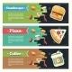 Vector Concept Fast Food Flat Banner Set. - GraphicRiver Item for Sale