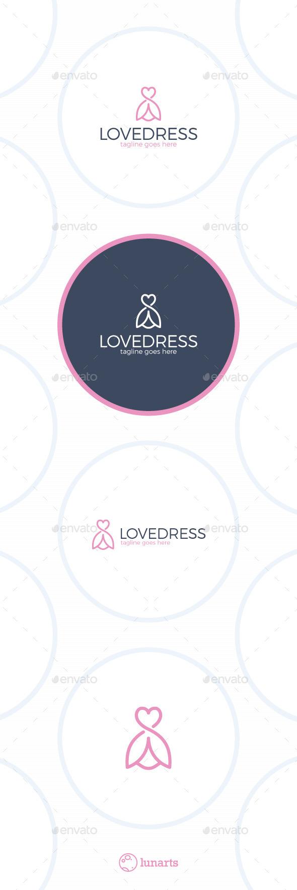 Love Dress Logo - Flower Line