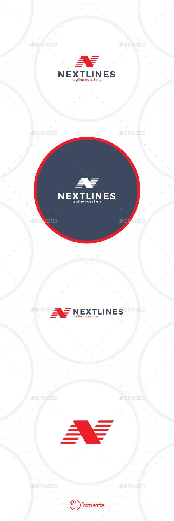Next Lines Logo - Letter N