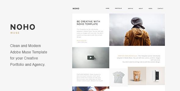 NOHO - Szablon Muse Portfolio agencji kreatywnej