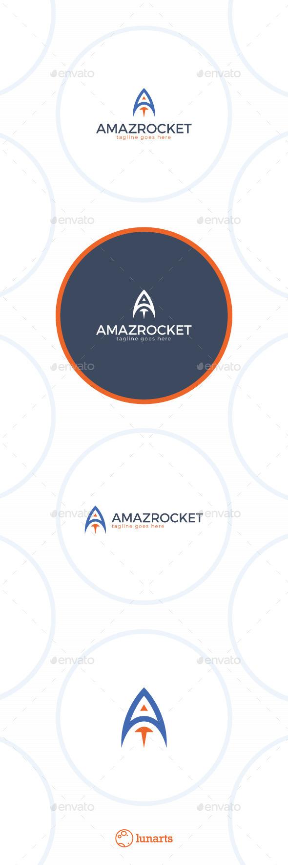 Rocket Logo - Letter A