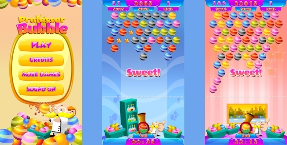 Professor Bubble  - HTML5 Mobile Game (Construct 3 | Construct 2 | Capx) Download