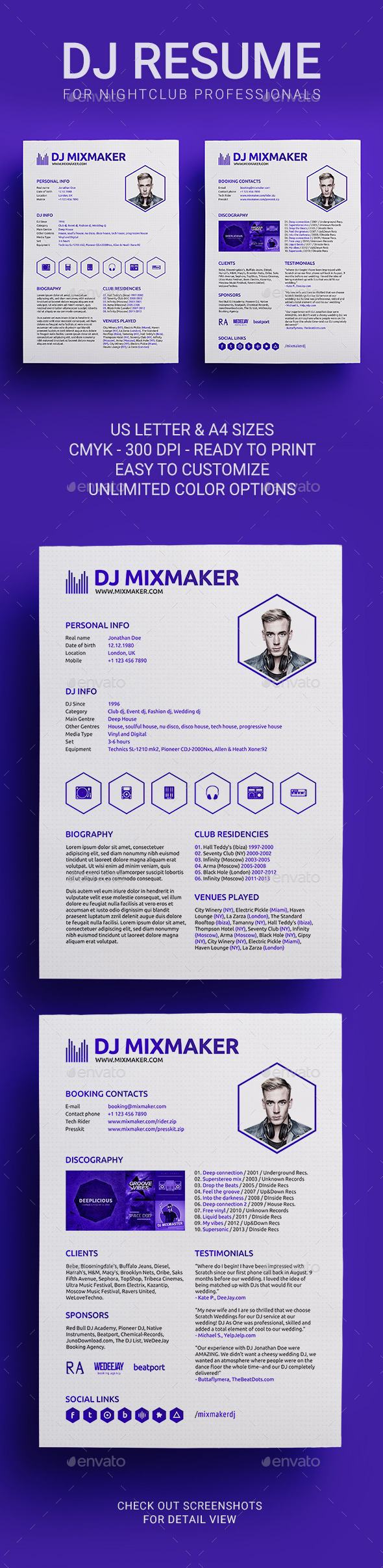 Dj Press Kit Graphics, Designs & Templates from GraphicRiver