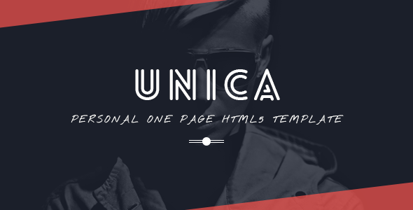 Unica Personal One-page HTML5 Template