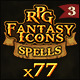 77 RPG Fantasy Spells Icons - GraphicRiver Item for Sale