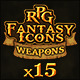 15 RPG Fantasy Weapons Icons - GraphicRiver Item for Sale