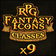 9 RPG Heroic-Fantasy Classes Icons - GraphicRiver Item for Sale