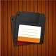Vector Modern Diskette On Wooden Background - GraphicRiver Item for Sale