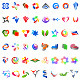 48 Different Colourful Abstract Symbols - part 6