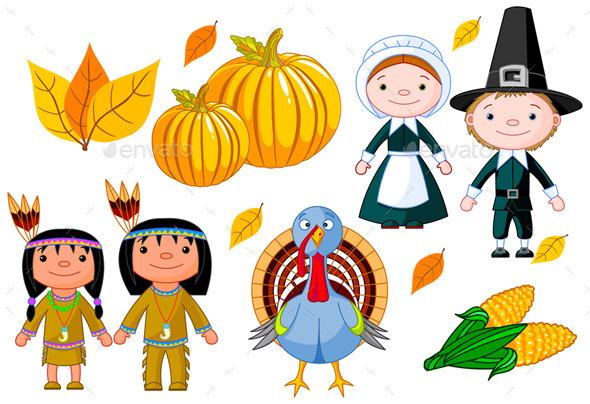 Thanksgiving Day Icon Set
