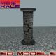 Stone Column - 3DOcean Item for Sale