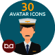 30 Avatar Icons - GraphicRiver Item for Sale