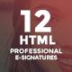12 HTML Professional E-Signature Templates - GraphicRiver Item for Sale