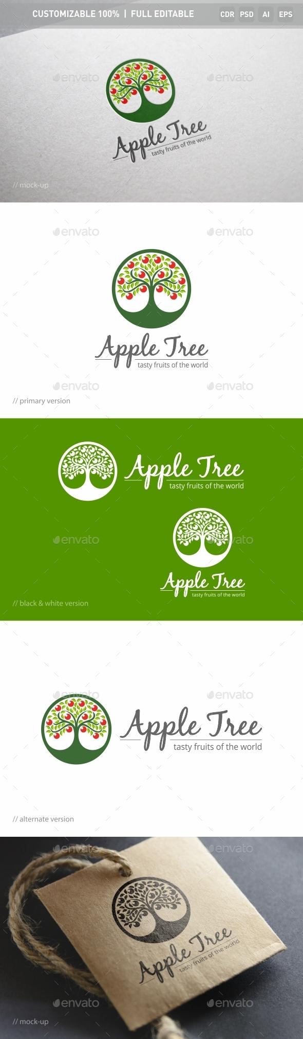 Apple Tree Logo Template