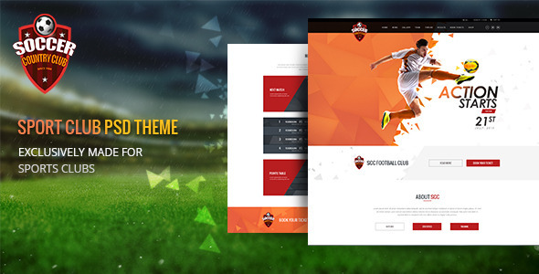 Soccer Club | Multipurpose PSD Template