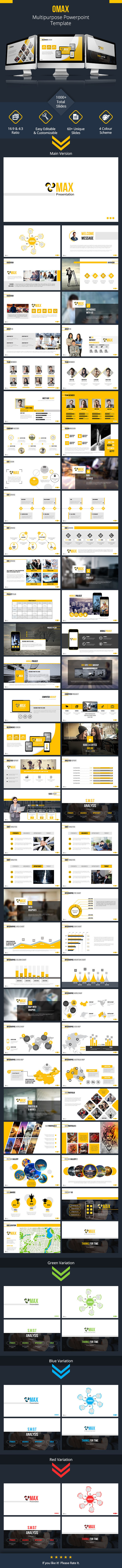 Omax Powerpoint Presentation Template