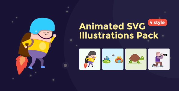 Animated SVG Illustrations Pack