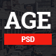 AGE - Material Design Magazine Blog PSD Template